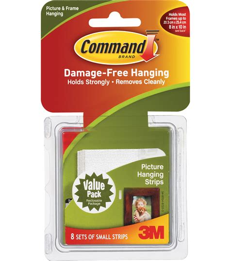 command medium picture hanging strips jo ann command small picture hang strips jo ann