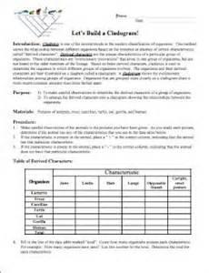 cladogram worksheet answer key bio unit 11