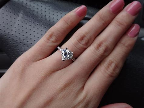 Post your heart shaped engagement rings   Weddingbee