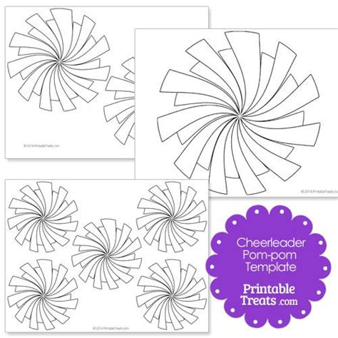 pom pom card template printable pom pom template from