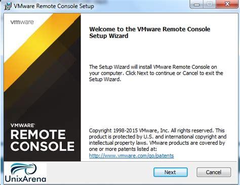 vmware console vmrc standalone vmware remote console unixarena