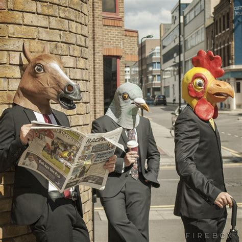 girl wearing horse head mask animal masks horse pigeon and chicken heads 187 review
