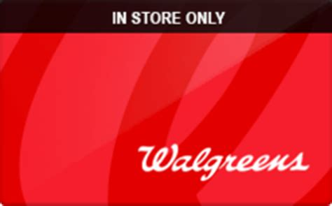 Walgreens Gift Cards List - sell walgreens in store only gift cards raise