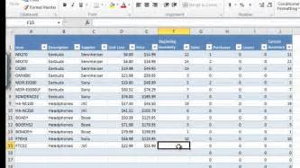 cxm master inventory and sales workbook v1 0 for excel