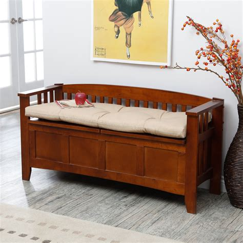 storage bench with cushion woodwork indoor storage bench with cushion pdf plans