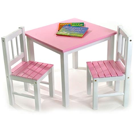 childrens wooden table and chairs pink in furniture
