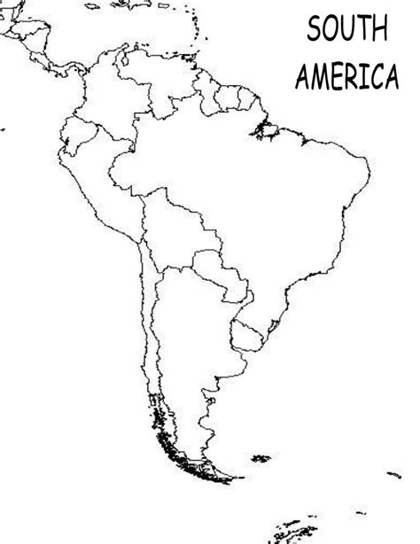 south america map outline south america