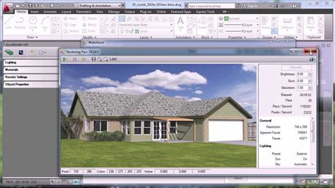 autocad 2007 3d tutorial render rendering with autocad youtube