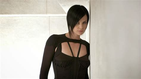 edgy haircuts charlize theron in aeon flux charlize theron aeon flux marton csokas wallpaper