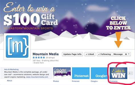 Social Media Giveaway Ideas - eastern mountain sports giveaway mountain mediaseo social media and video