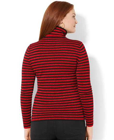 And Black Sweater by ralph plus size metallic striped