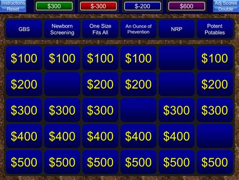 A Free Powerpoint Jeopardy Template For The Classroom Keeps Track Of Score And Allows You To Classroom Jeopardy Powerpoint