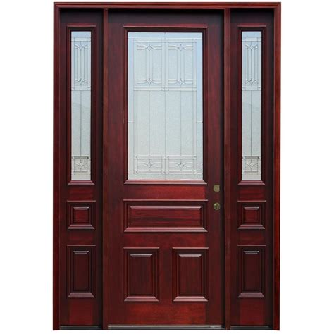 Pacific Entries 70 In X 96 In Traditional 3 4 Lite 4 Doors Exterior