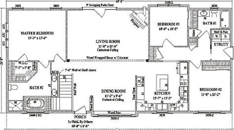 3 Bed Bungalow Floor Plans rustic by wardcraft homes ranch floorplan