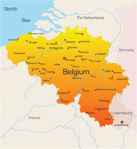 belgium map belgium vector maps