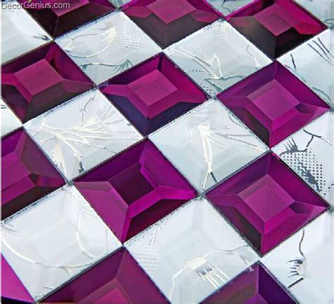 decorgenius  shipping ice cracked purple glass crystal wallboard plastic glass mosaic
