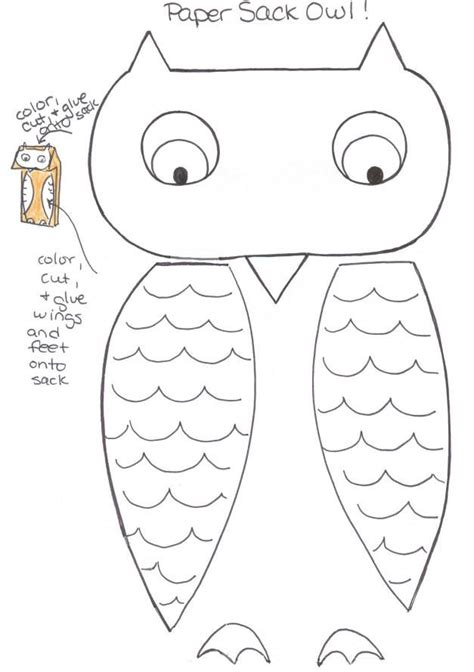 printable owl cut outs 17 best images about kids paper sack puppets on