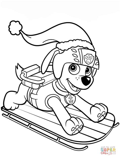 coloring pages of zuma from paw patrol zuma on sled coloring page free printable coloring pages