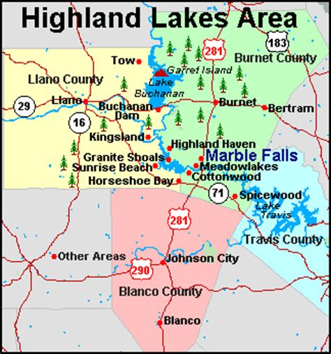 highland lakes texas map get connected with the you want on lake lbj real estate