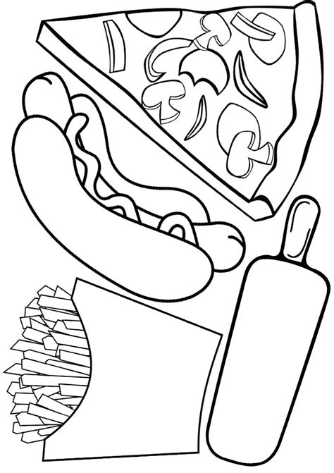 free coloring pages fast food fast food coloring pages realistic fast best free
