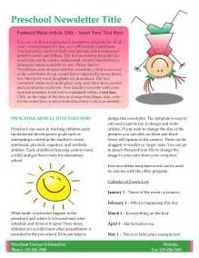 kindergarten newsletter templates free best photos of day care newsletter templates sle