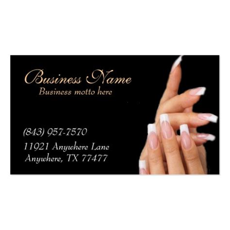 Business Card Template For Nail Technicians by Custom Black Nail Salon Business Cards Zazzle