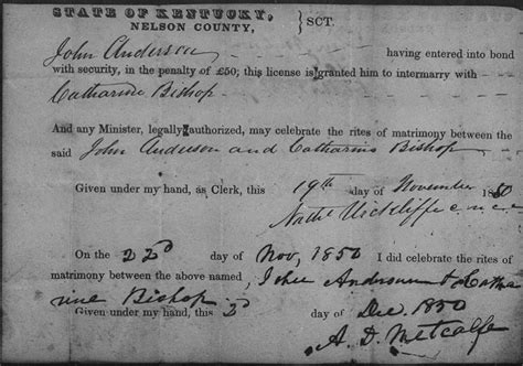 Early Kentucky Marriage Records Using Kentucky Marriage Records