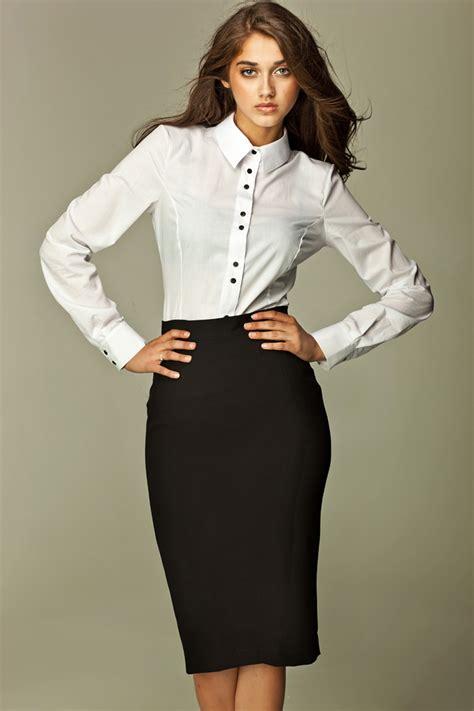 black tea length pencil skirt