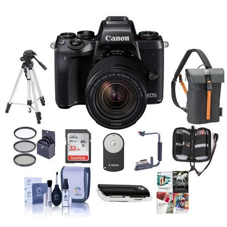 canon eos m5 mirrorless with 18 150mm stm lens and premium kit