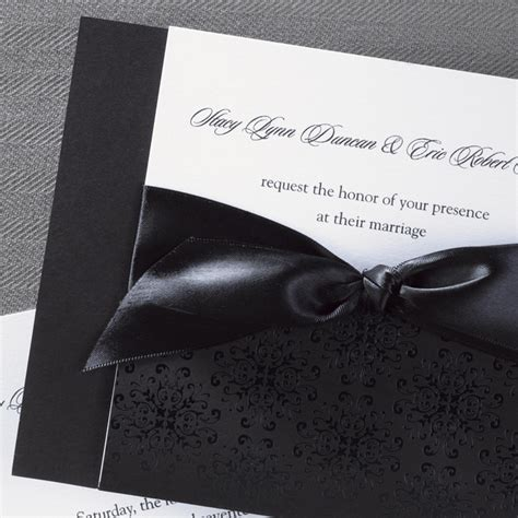black and white wedding invitations classic black and white wedding invitations flamingo