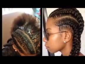 "straight back braids tutorial by ""styles by jazae"" youtube"