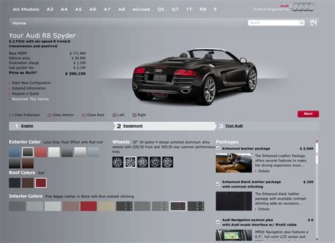 how much is a 2012 audi r8 winding road base versus loaded 2012 audi r8 spyder 5 2