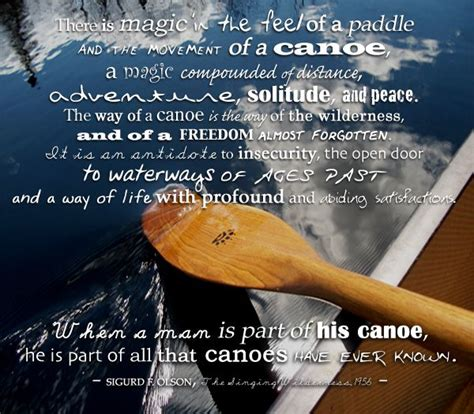 sigurd  olson quote canoe paddling  passion  paddling pinterest sky    kayaks