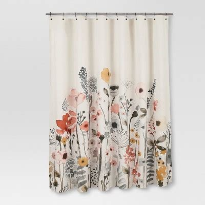 threshold floral shower curtain shower curtain floral wave threshold target
