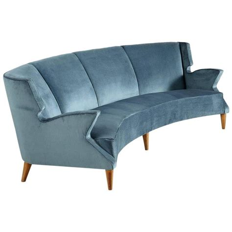 Four Seat Sofa by Large Italian Four Seat Curved Sofa For Sale At 1stdibs