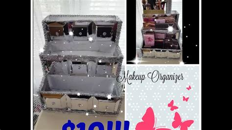 youtube organizer dollar tree diy makeup organizer storage do it