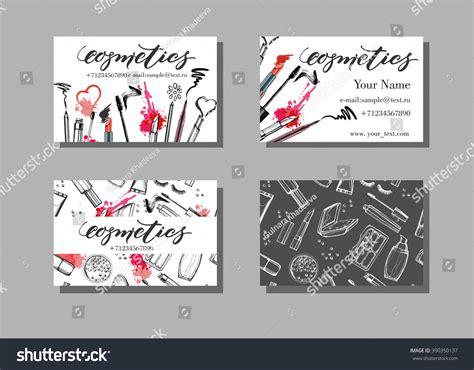 free business card templates artwork makeup artist business card vector template stock vector
