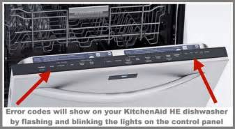 How To Reset Bosch Dishwasher Kitchenaid Dishwasher Error Fault Codes For He Model