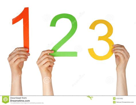 three one number one two three stock photography image 31021952