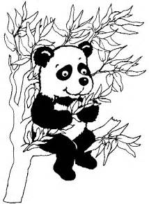 panda head colouring pages 2