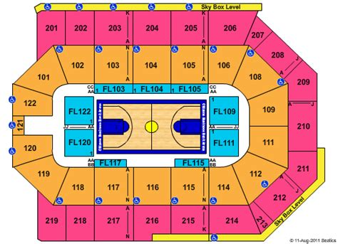 citizen bank arena seating chart celtic tickets citizens business bank arena