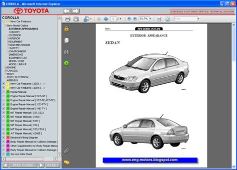 online auto repair manual 2006 toyota corolla spare parts catalogs toyota corolla service manual 2007 service spare parts catalog