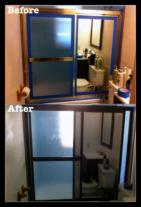 Painting Shower Door Frame Shower Doors Rubbed Bronze And Gold Shower On