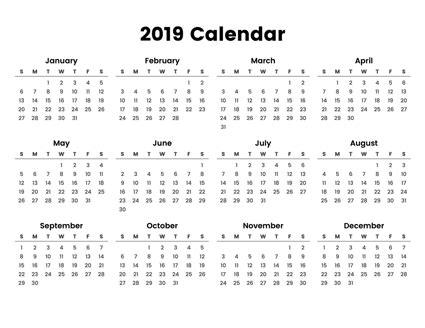 easy  print full year calendar     minimal design focusing    print