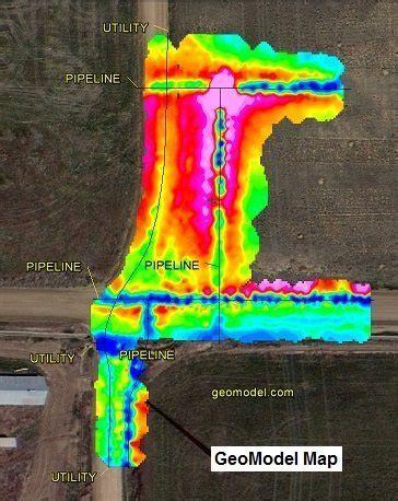 electromagnetic conductivity survey, em survey or terrain