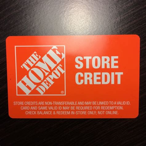 56 95 home depot store credit merchandise return gift