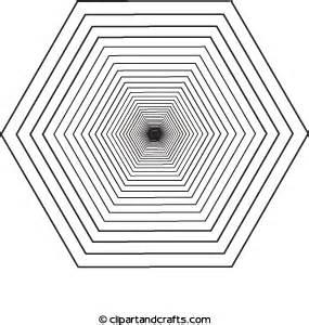 3d coloring pages coloring hexagon black 3d design