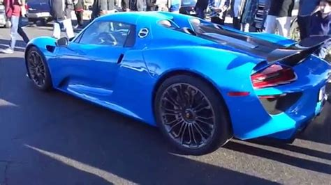 voodoo blue porsche 1 of 1 voodoo blue porsche 918 spyder walk around acceleration youtube