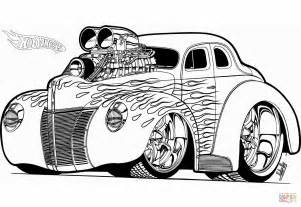 Hot Wheels Hot Rod coloring page   Free Printable Coloring