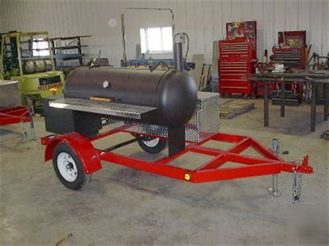 Mobile Pit Mobile Trailer Bbq Pit Cooker With Storage Box